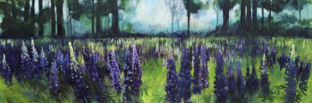 Woods and Lupins 50×150 – 2015